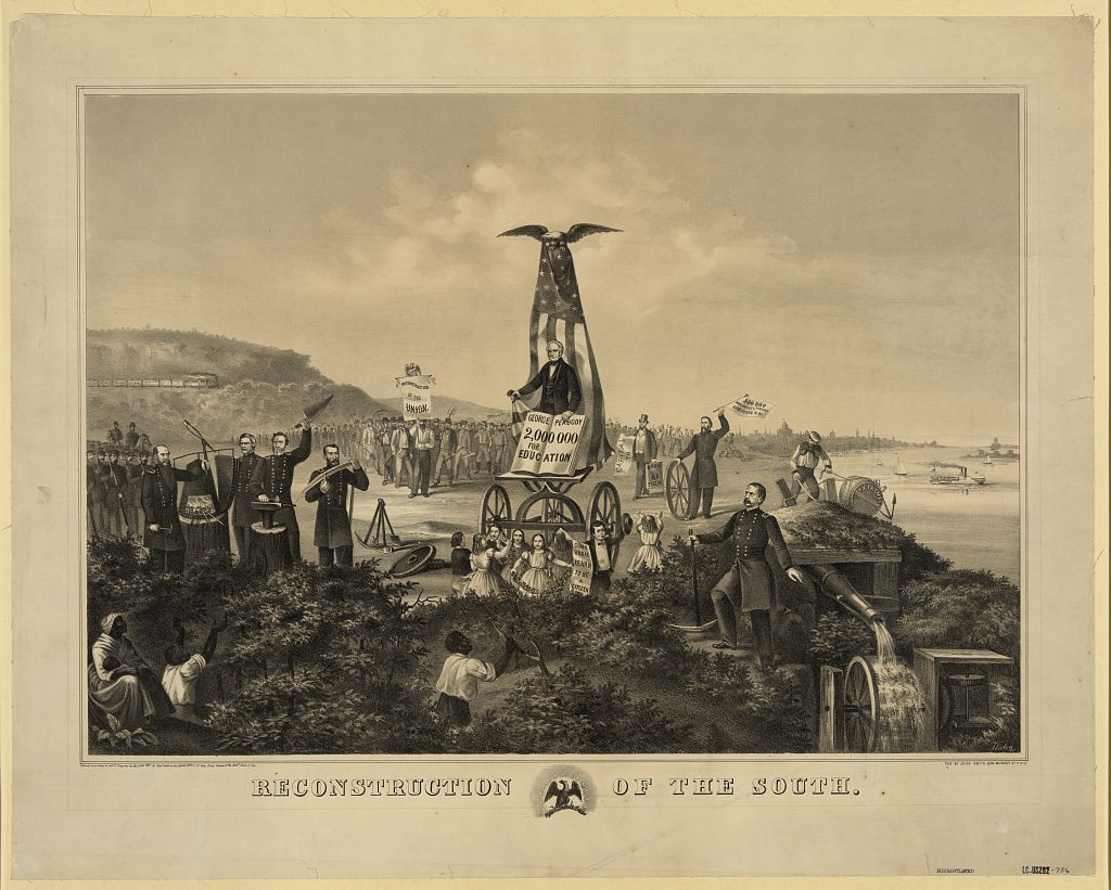 """Augustus Tholey's illustration, """"Reconstruction of the South"""" (1867)"""